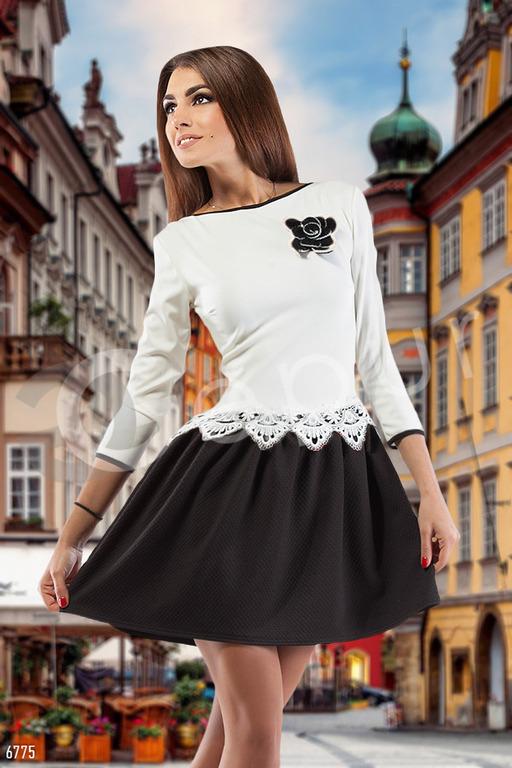 белый верх черный низ женщины фото